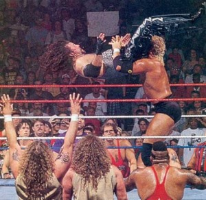 Sid powerbombing Diesel in '95.