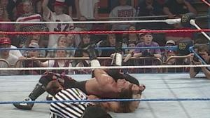 WWF World Champion HBK retaining the title over HHH.