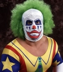 The evil clown, Doink with a strong showing.