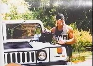 Luger's evidence that Hogan is a real bad guy. He drove the HUMMER!