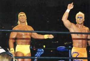A time when the Hulkster and Stinger were friends.
