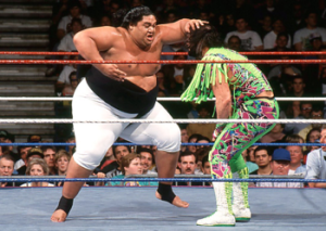 Yokozuna in action against Randy Savage.