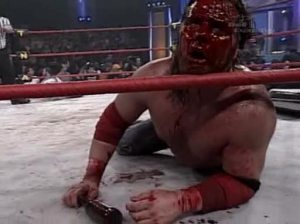 Chris Harris bloodied James Storm big time.