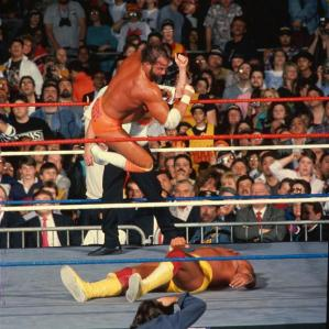 The elbow wasn't enough to take out Hulkamania.