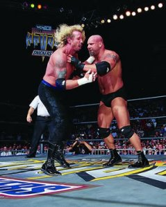 DDP in action against Goldberg at Halloween Havoc '98